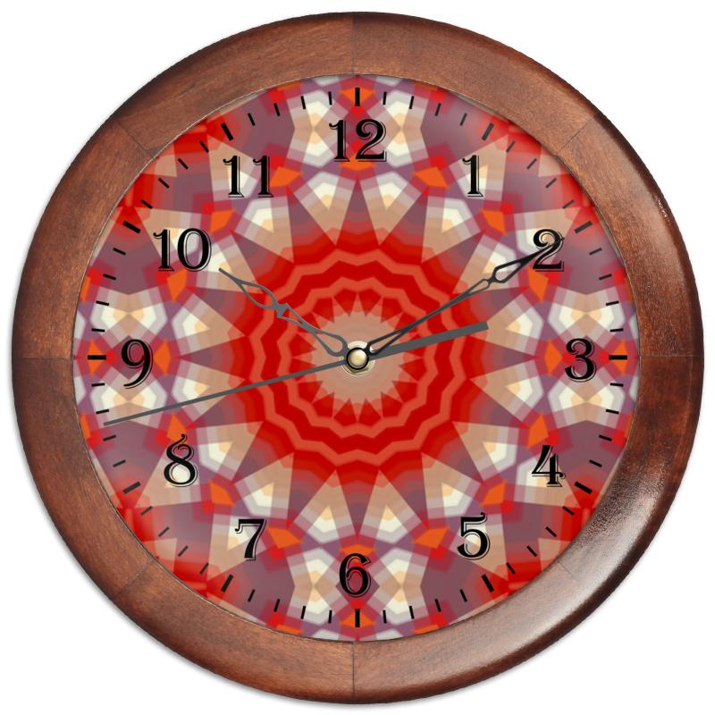 Часы круглые из дерева Printio Sihaya