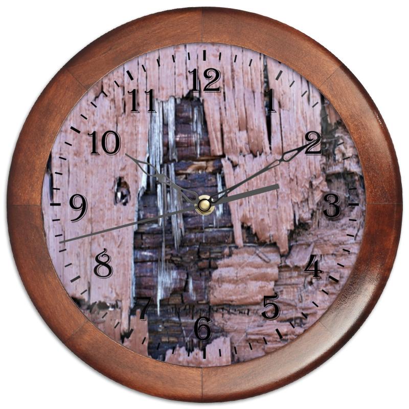 Часы круглые из дерева Printio деревянная часы круглые из дерева printio сова в наушниках