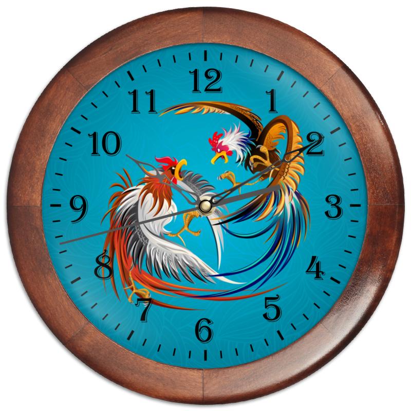 Часы круглые из дерева Printio Новый год 2017 часы круглые из пластика printio новый год 2017