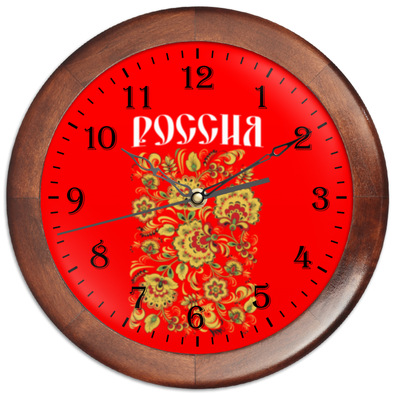 Часы круглые из дерева Printio Россия
