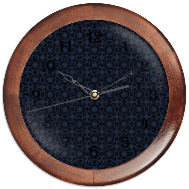 Часы круглые из дерева Printio Radar