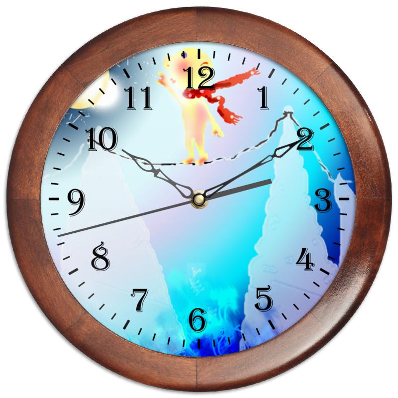Часы круглые из дерева Printio Канатоходец часы из дерева для дома