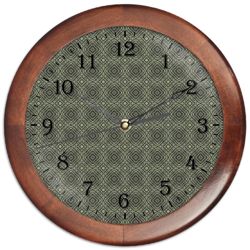Часы круглые из дерева Printio Fluxx