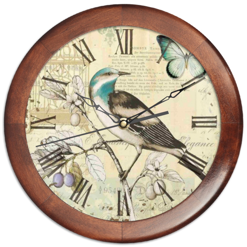 Часы круглые из дерева Printio Птица