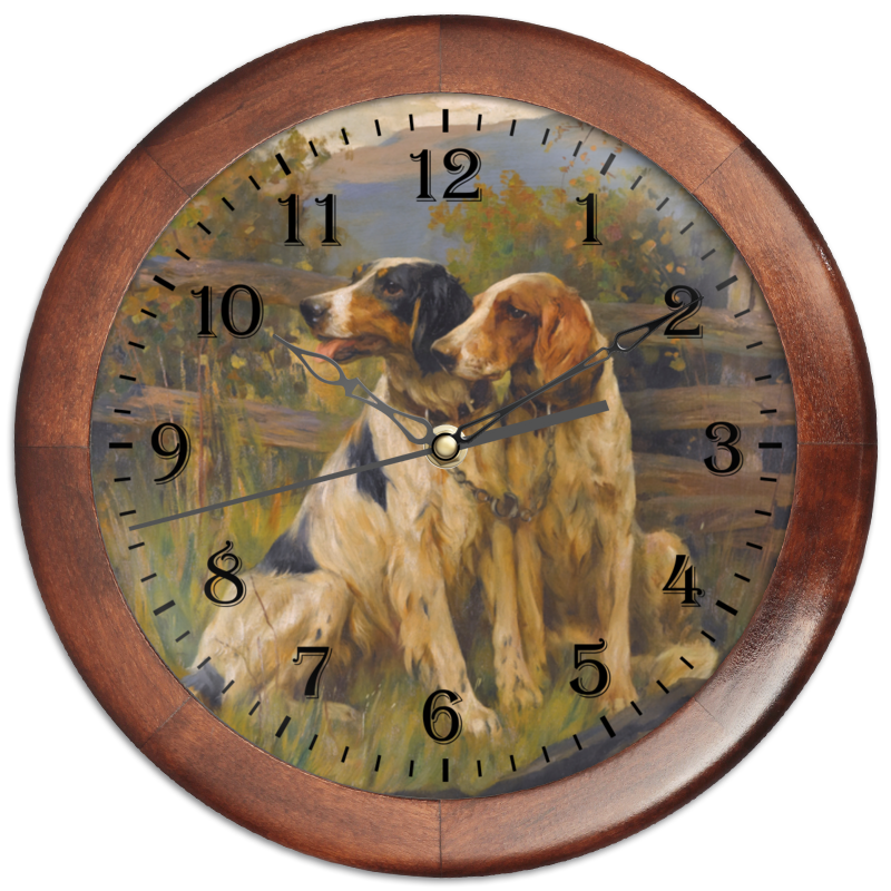 Часы круглые из дерева Printio Собаки часы круглые из дерева printio забавные собаки