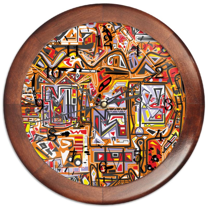 Фото - Часы круглые из дерева Printio Оранжевый дом. бомбер printio оранжевый дом