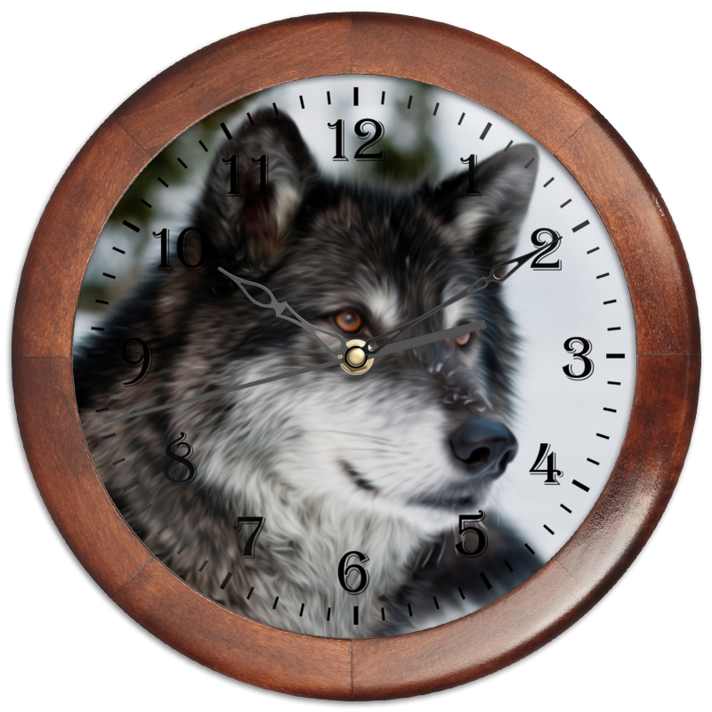 Часы круглые из дерева Printio Серый волк часы круглые из пластика printio серый волк