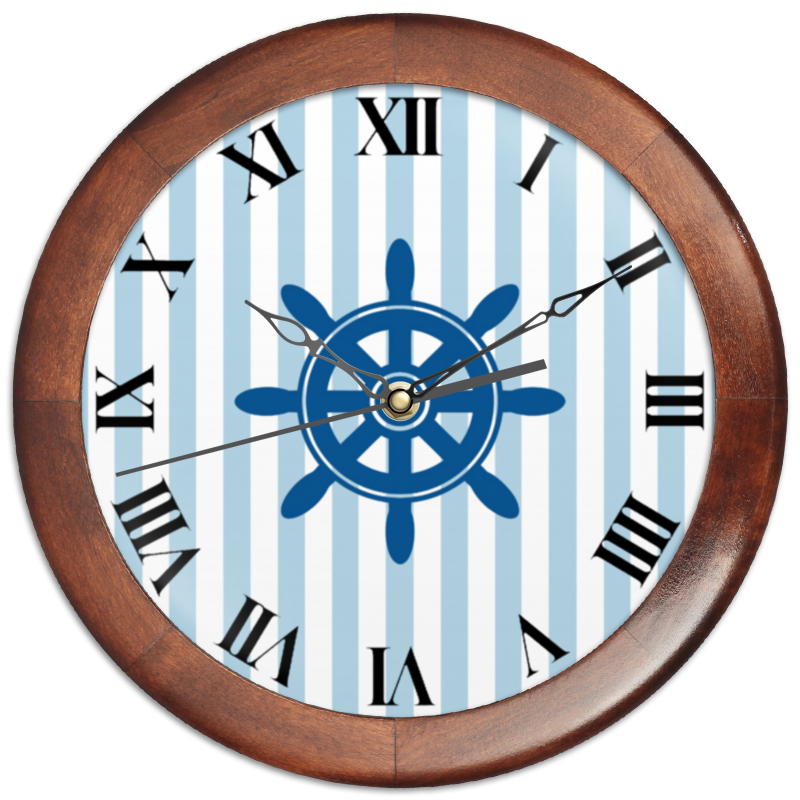 Часы круглые из дерева Printio Морской волк чехол для ноутбука 14 printio морской бой