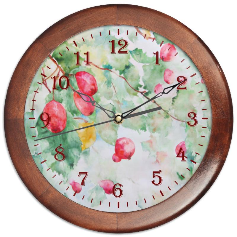 Часы круглые из дерева Printio Боярышник и осень часы круглые из дерева printio боярышник и осень