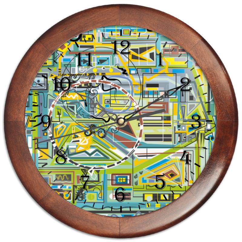 Часы круглые из дерева Printio Березка кроватка скв березка 120119 бежевый