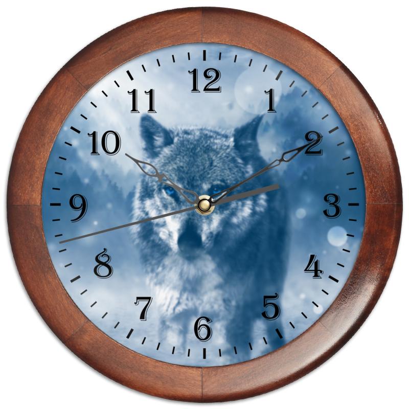 Часы круглые из дерева Printio Волк с голубыми глазами aqua minerale с соком лимон напиток негазированный 0 6 л