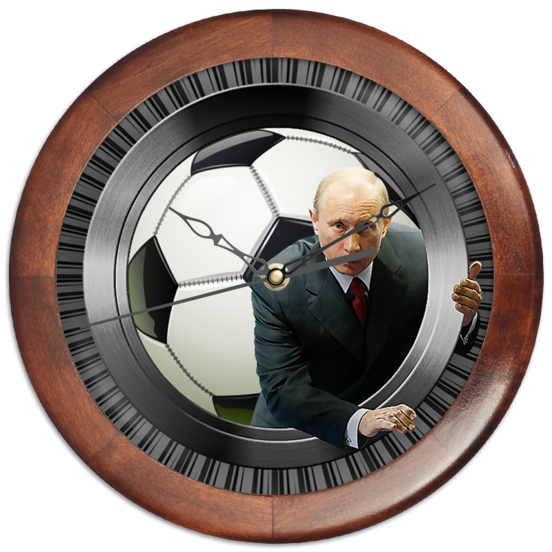 Часы круглые из дерева Printio President putin (football) 3d football field wall sticker