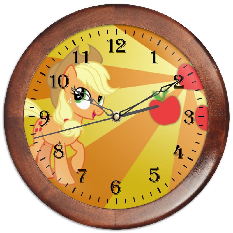 Часы круглые из дерева Printio Applejack color line часы круглые из дерева printio princess celestia color line