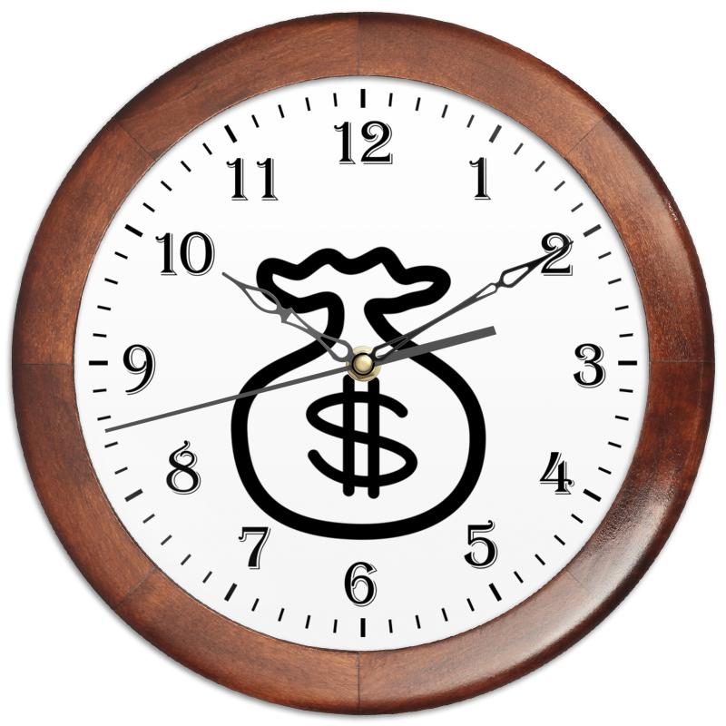 Часы круглые из дерева Printio Амулет для притягивания денег.