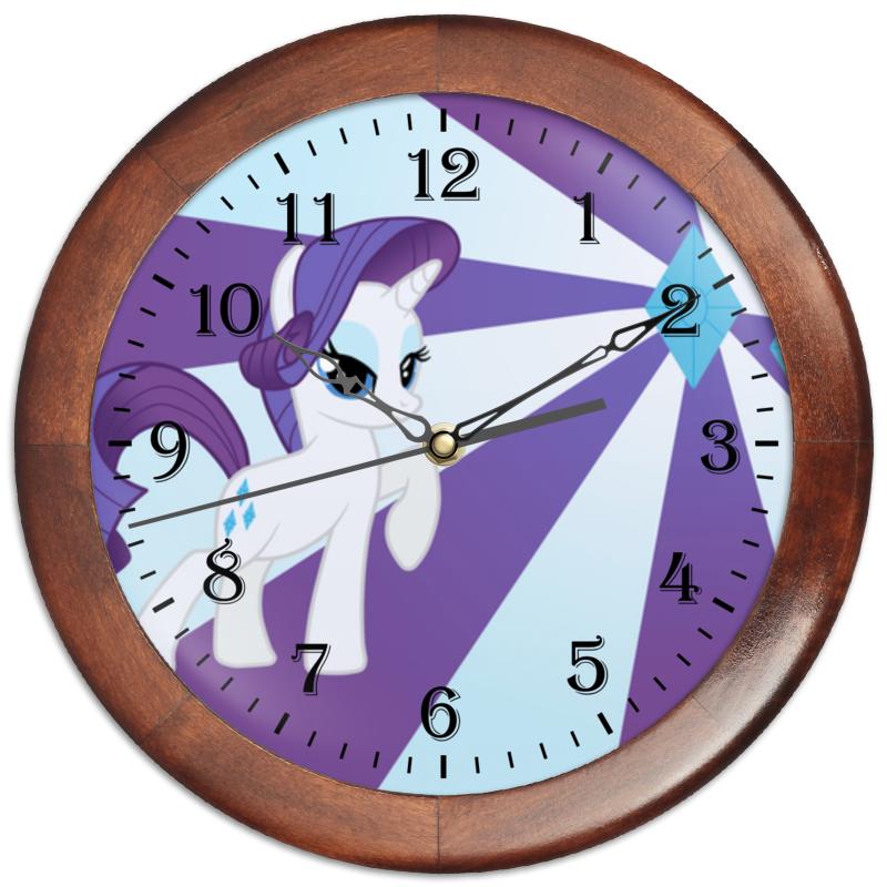 Часы круглые из дерева Printio Rarity color line часы круглые из дерева printio princess celestia color line