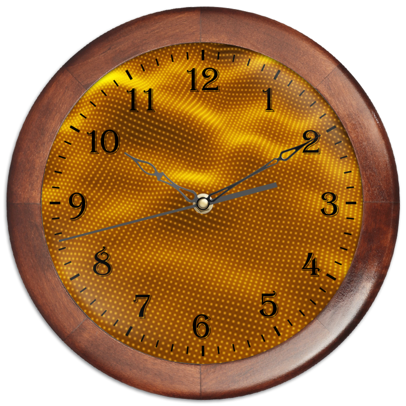 Часы круглые из дерева Printio Dynamic waves