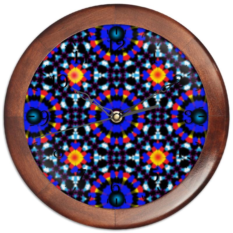 Часы круглые из дерева Printio Ультрамарин