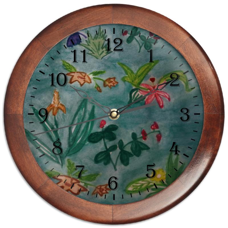 Часы круглые из дерева Printio Ботаника часы круглые из дерева printio боярышник и осень