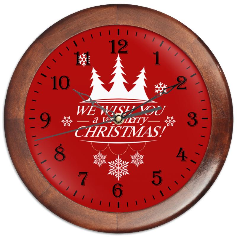 Часы круглые из дерева Printio Merry x-mas футболка классическая printio merry x mas