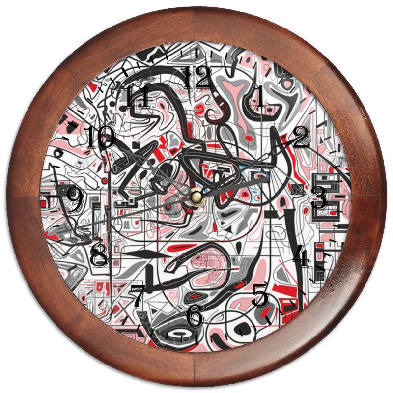 Часы круглые из дерева Printio Mamewax