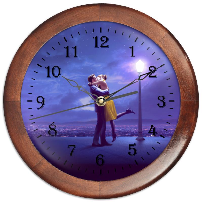 Часы круглые из дерева Printio Ла ла ленд кремы ла кри ла кри стоп акне лок дейс крем туба 15мл