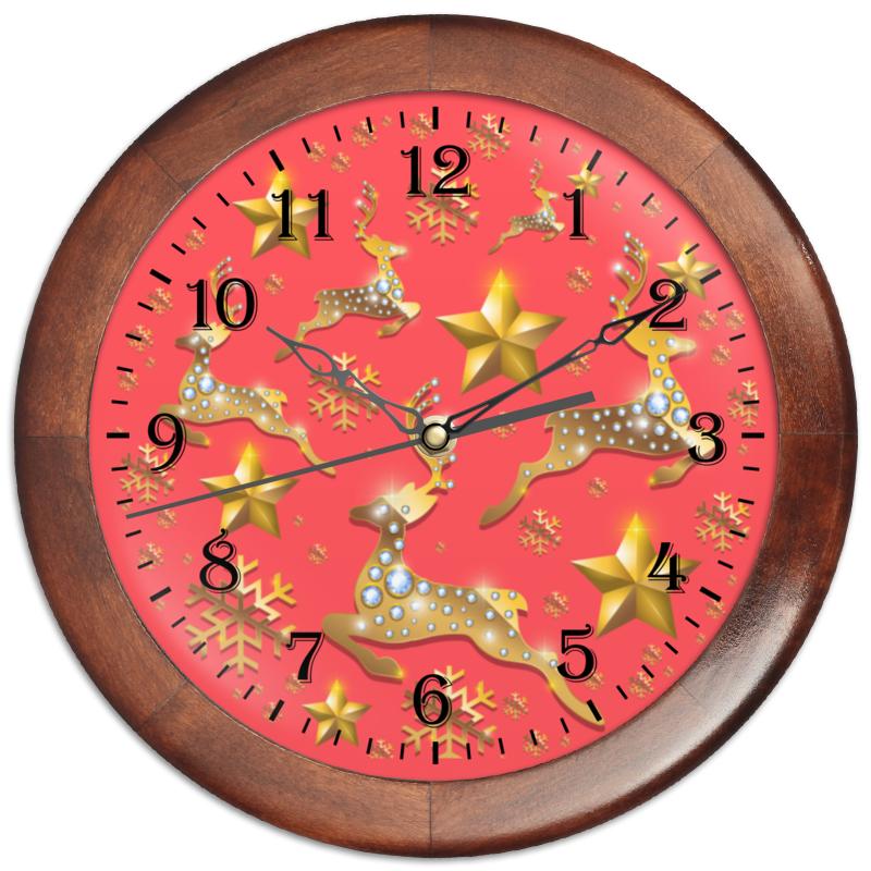 Часы круглые из дерева Printio Олени часы круглые из дерева printio боярышник и осень