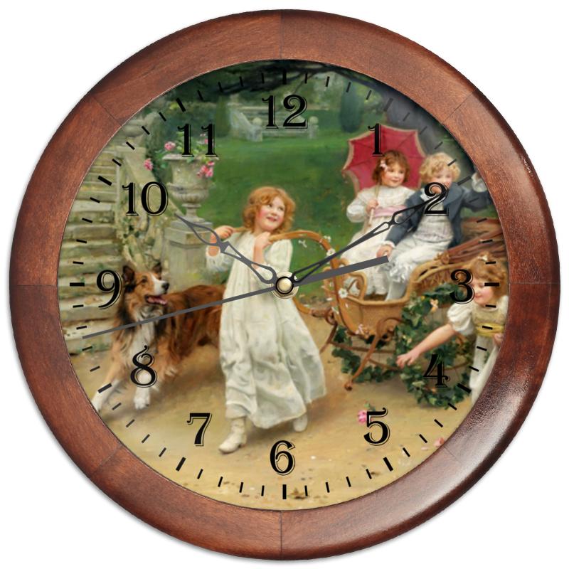 Часы круглые из дерева Printio Картина артура элсли (1860-1952) часы круглые из дерева printio забавные собаки