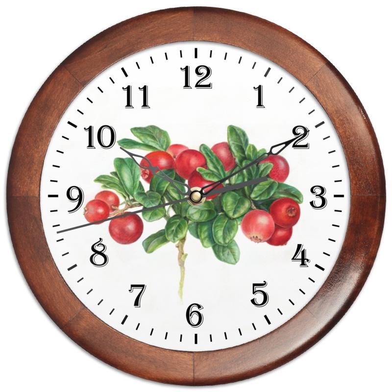 Часы круглые из дерева Printio Сочная брусника цена 2017