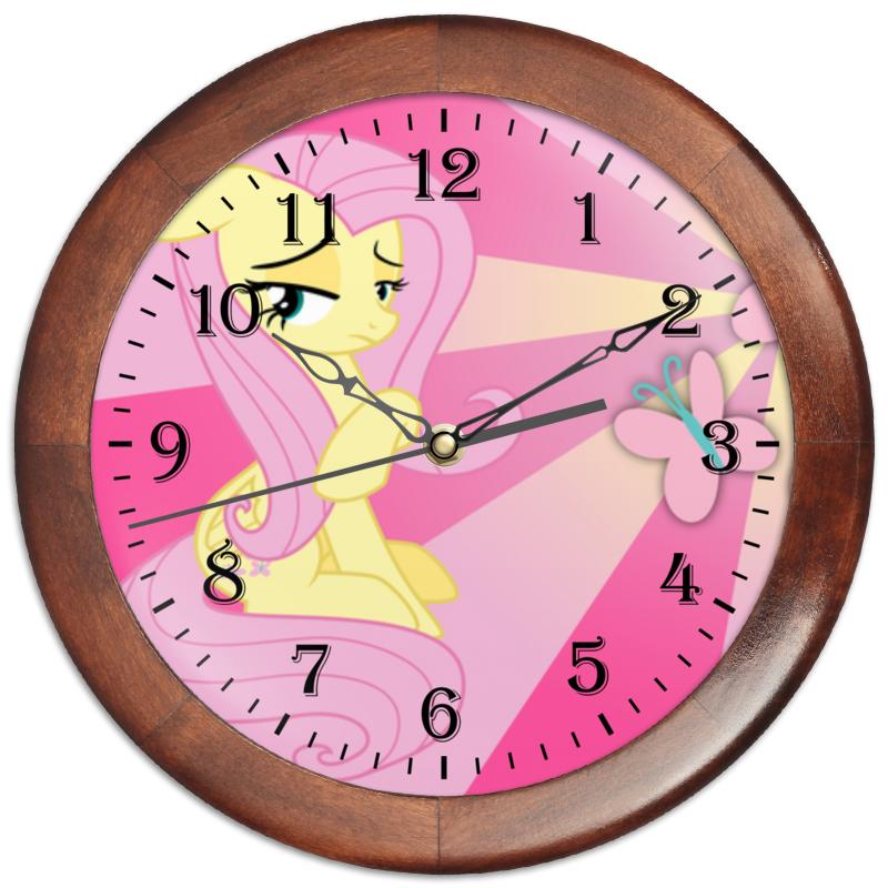 Часы круглые из дерева Printio Fluttershy color line часы круглые из дерева printio princess celestia color line