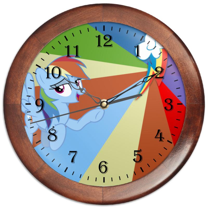 Часы круглые из дерева Printio Rainbow dash color line часы круглые из дерева printio princess celestia color line