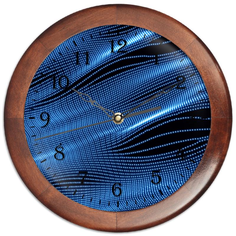 Часы круглые из дерева Printio Звуковые волны часы круглые из дерева printio часы рфс