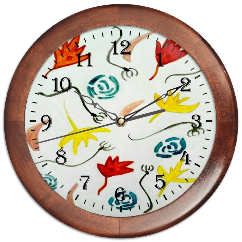 Часы круглые из дерева Printio Осень часы круглые из пластика printio осенние листья
