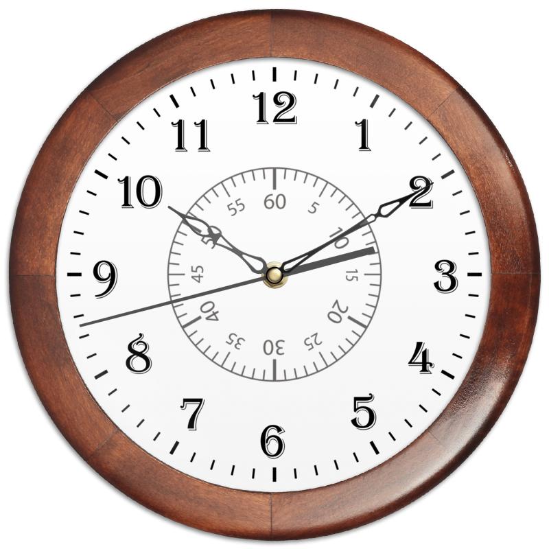 Часы круглые из дерева Printio Минутная разметка