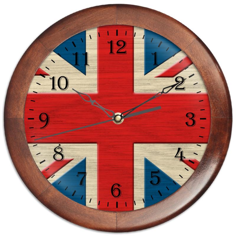 Часы круглые из дерева Printio Англия часы круглые из дерева printio кофе тайм coffee time