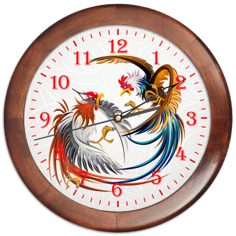 Часы круглые из дерева Printio Новый год 2017 часы я zhuolun мужские часы 2017 новый простой корейский моды большой набор новый yzl0558th 2 page 4