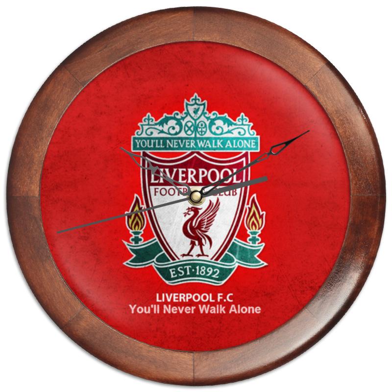 Часы круглые из дерева Printio Liverpool