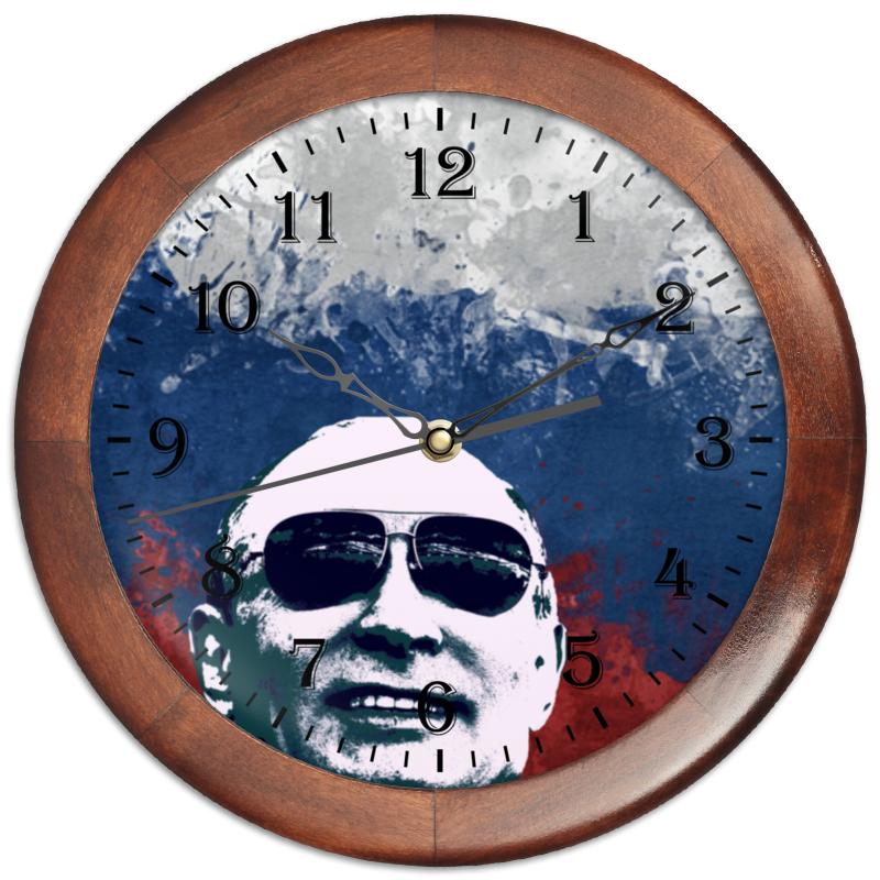 Printio Путин часы круглые из пластика printio владимир путин