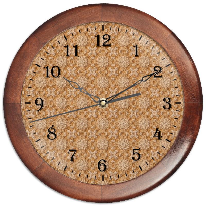 Часы круглые из дерева Printio Dustcloud