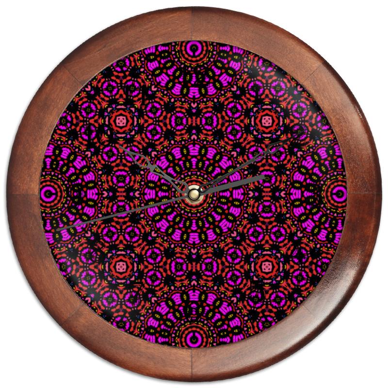 Часы круглые из дерева Printio Purple