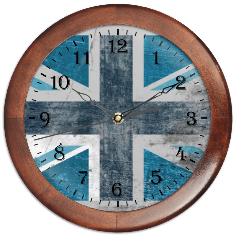 Часы круглые из дерева Printio Голубой флаг британии часы круглые из дерева printio часы ассирийский флаг