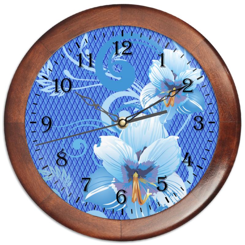 Часы круглые из дерева Printio