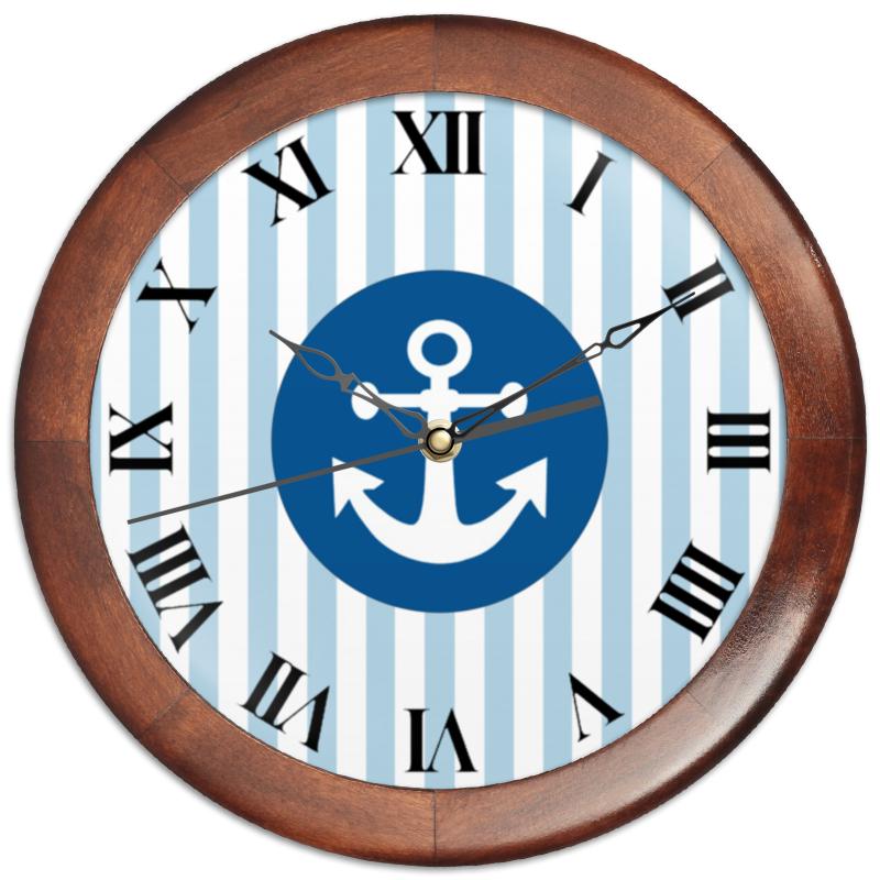 Часы круглые из дерева Printio Морской волк книги эксмо морской волк