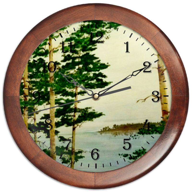 Часы круглые из дерева Printio На днепре