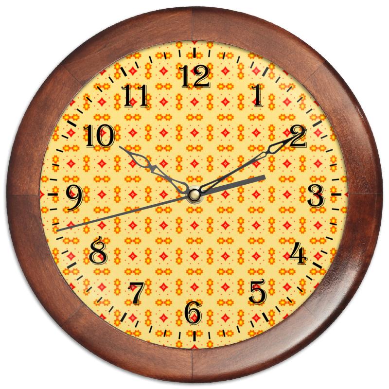 Часы круглые из дерева Printio Haiku