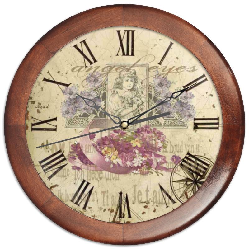 Часы круглые из дерева Printio Портрет евгения морозова портрет из прошлого