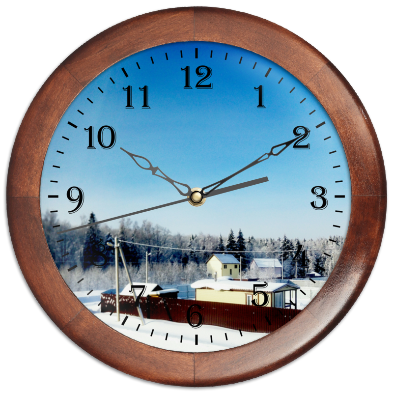 Часы круглые из дерева Printio Зима. мороз. солнце. холст 60x90 printio зима мороз солнце