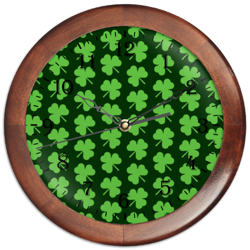 Часы круглые из дерева Printio Без названия
