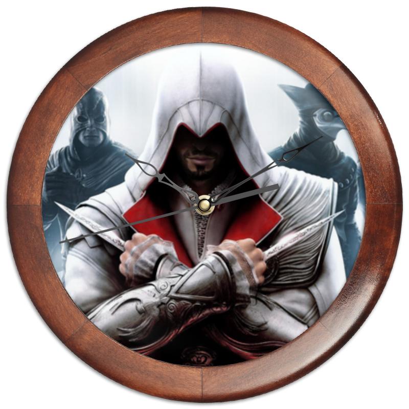 Часы круглые из дерева Printio Assassin's creed
