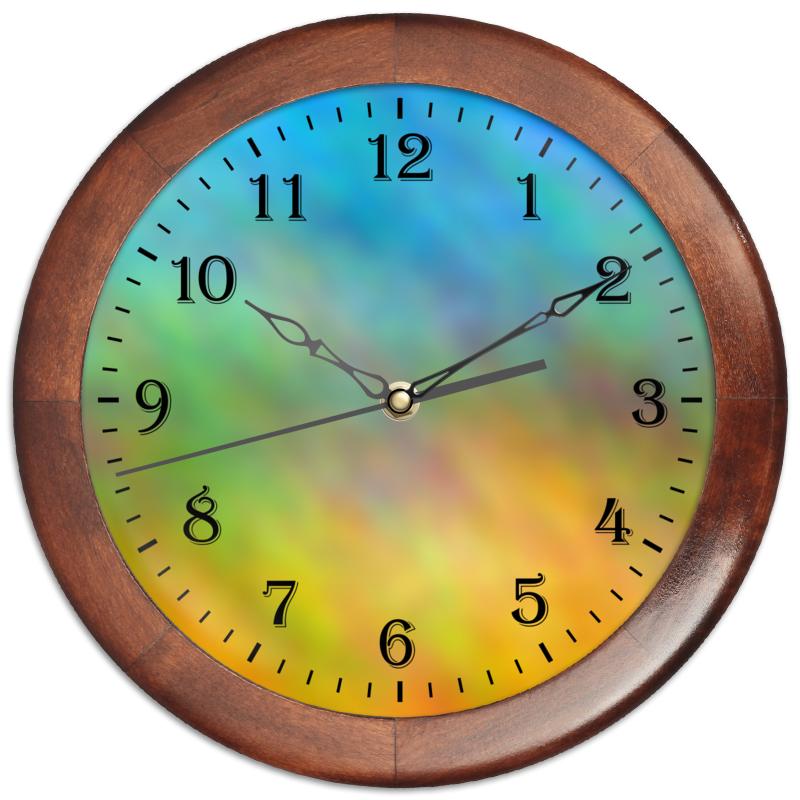 Часы круглые из дерева Printio Часы весна часы круглые из дерева printio для салона красоты