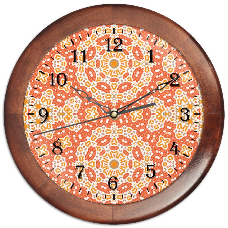 Часы круглые из дерева Printio Sunny
